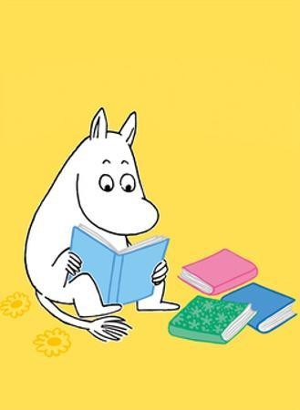 Moomintroll with his Head in a Book by Tove Jansson