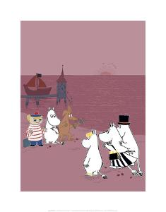 The Moomins Back on Dry Land After Their Treasure Hunt by Tove Jansson