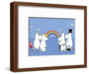 The Moomins Enjoying the Rainbow by Tove Jansson