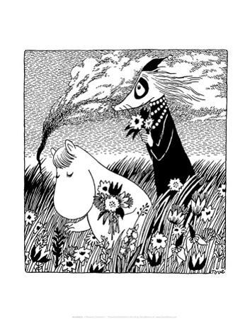 Vintage Moomin Illustration