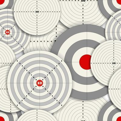 Seamless Background Of Targets