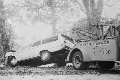 Tow Truck Towing Station Wagon--Photographic Print