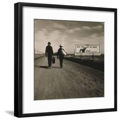 Toward Los Angeles, California, 1937-Dorothea Lange-Framed Photographic Print