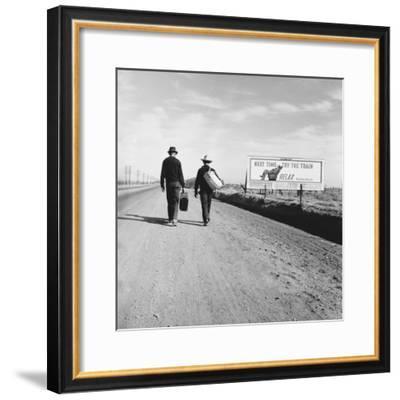 Toward Los Angeles, California-Dorothea Lange-Framed Photo