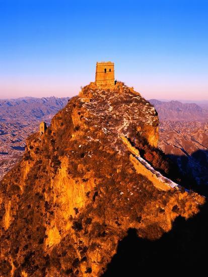 Tower at Great Wall of China-Liu Liqun-Photographic Print
