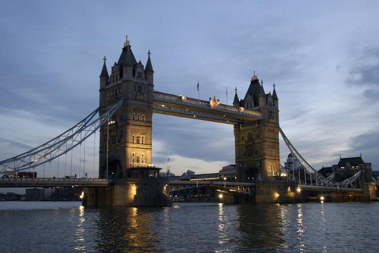 Tower Bridge and River Thames at Dusk, London,England,Uk-Design Pics Inc-Photographic Print
