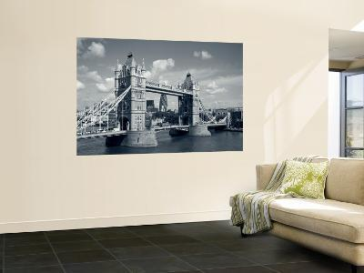 Tower Bridge and Thames River, London, England-Steve Vidler-Wall Mural
