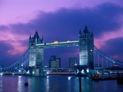 Tower Bridge at Night, London, Eng-Peter Adams-Photographic Print