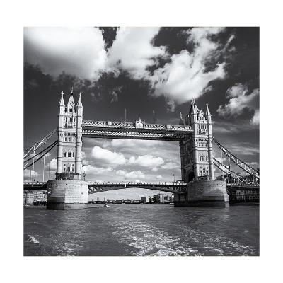 Tower Bridge, Clouds-Henri Silberman-Photographic Print