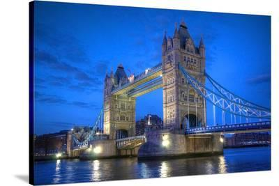 Tower Bridge In London--Stretched Canvas Print