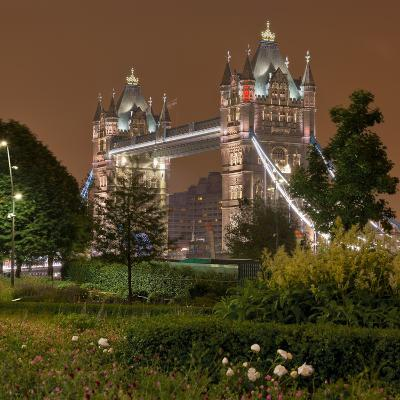 Tower Bridge, in the Evening, London, England, Great Britain-Rainer Mirau-Photographic Print