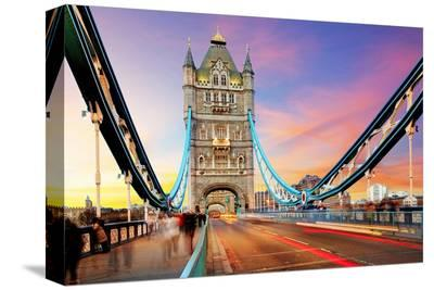 Tower Bridge - London--Stretched Canvas Print