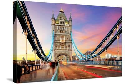 Tower Bridge - London--Stretched Canvas Print