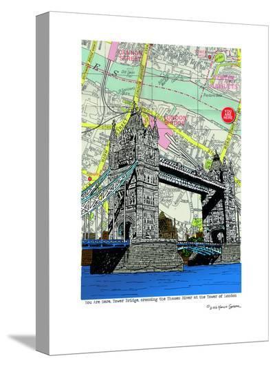 Tower Bridge London--Stretched Canvas Print