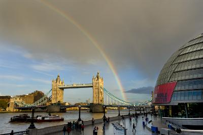 Tower Bridge Rainbow-Charles Bowman-Photographic Print