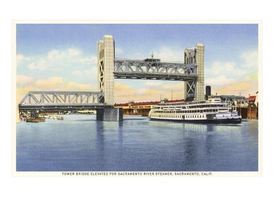 Tower Bridge, Sacramento, California--Art Print