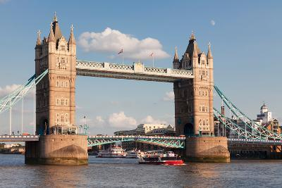 Tower Bridge, Thames River, London, England--Photographic Print