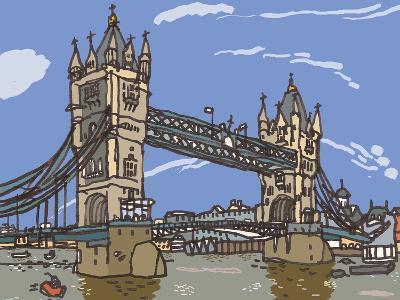 Tower Bridge-James Hobbs-Giclee Print