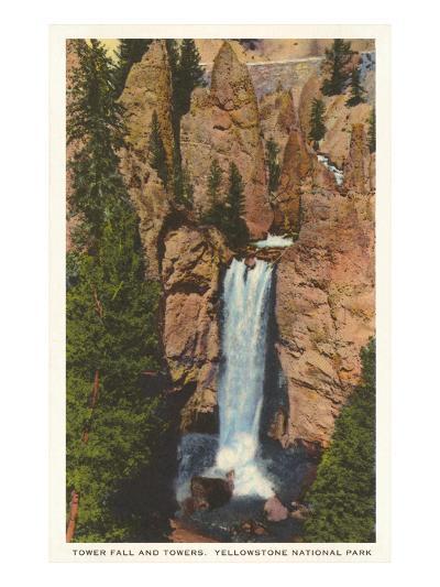 Tower Fall, Yellowstone Park, Montana--Art Print
