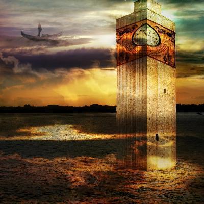 Tower In Italy- sattva_art-Art Print