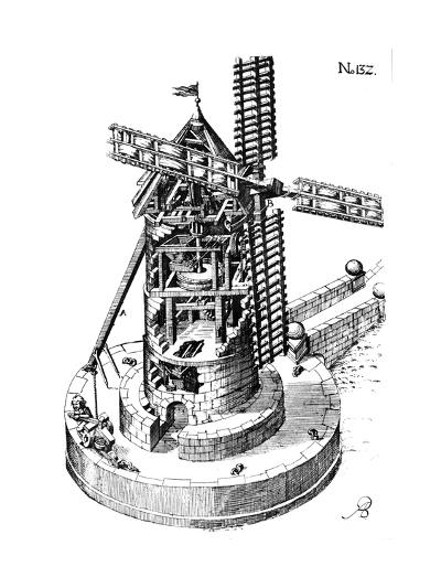 Tower Mill, 1620--Giclee Print