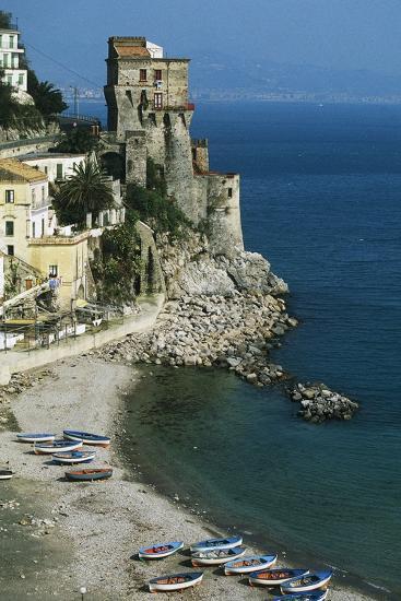 Tower of Cetara, 16th Century, Amalfi Coast, Campania, Italy--Photographic Print