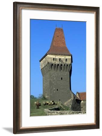 Tower of Corvinestilor Castle--Framed Giclee Print