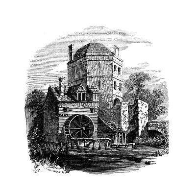 Tower of Franciscan Friary, Oxford, C1860--Giclee Print