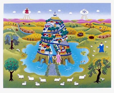 Tower of life-Gisela Fabian-Serigraph