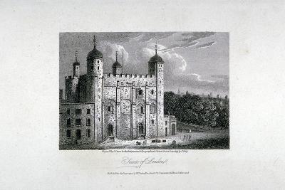 Tower of London, 1808-James Sargant Storer-Giclee Print