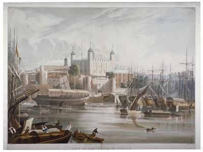 Tower of London, 1819-Daniel Havell-Giclee Print