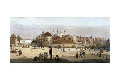 Tower of London, 1842-Thomas Shotter Boys-Giclee Print