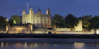 Tower of London, at Night, England, Great Britain-Rainer Mirau-Photographic Print
