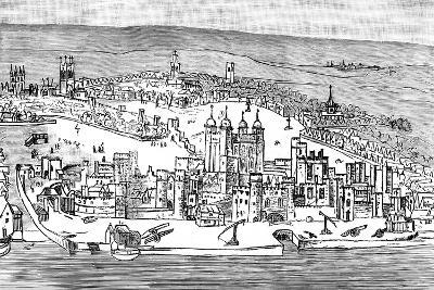 Tower of London, C1543-Anthonis van den Wyngaerde-Giclee Print
