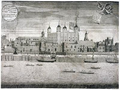 Tower of London, C1750-Sutton Nicholls-Giclee Print