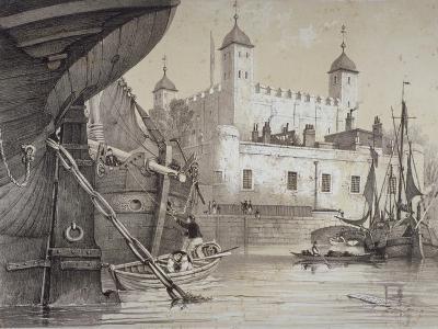 Tower of London, C1840-Edmund Patten-Giclee Print