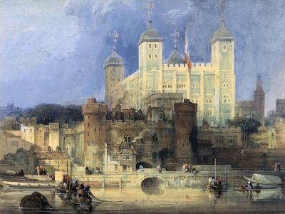 Tower of London-David Roberts-Giclee Print