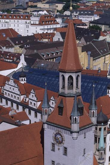 Tower of Old City Hall, Munich, Detail, Germany--Giclee Print