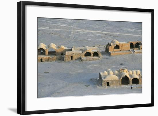 Tower of Silence and Zoroastrian Village, Near Yazd, Iran--Framed Photographic Print