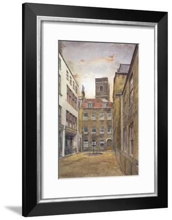 Tower of the Church of St Matthew, Friday Street as seen from Fountain Court, London, 1882-John Crowther-Framed Giclee Print