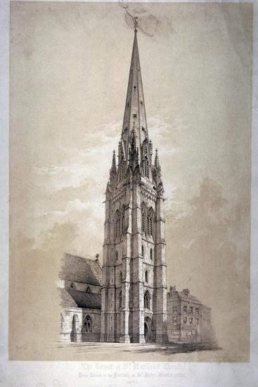 Tower of the Church of St Matthew, Great Peter Street, Westminster, London, 1850-Day & Son-Giclee Print