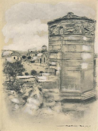 'Tower of the Winds, Athens', 1903-Mortimer L Menpes-Giclee Print