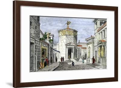 Tower of the Winds Topped by a Weathervane of Triton, and with Sundials on the Outer Walls--Framed Giclee Print