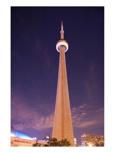 Towering CN Tower At Night--Art Print