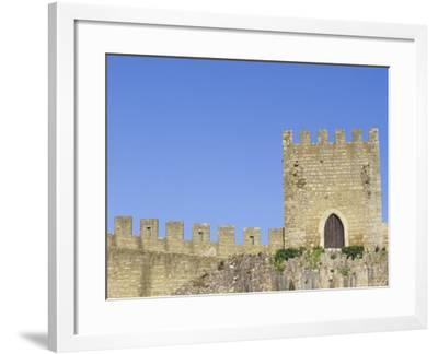 Towers and Crenellated Walls of 12th Century Castle, Obidos, Portugal-John & Lisa Merrill-Framed Photographic Print