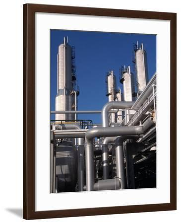 Towers and Pipes of Propane Fractionation Site-Ed Lallo-Framed Photographic Print