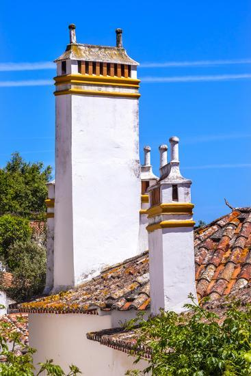 Towers of building in a Medieval Town, Obidos, Portugal-William Perry-Premium Photographic Print