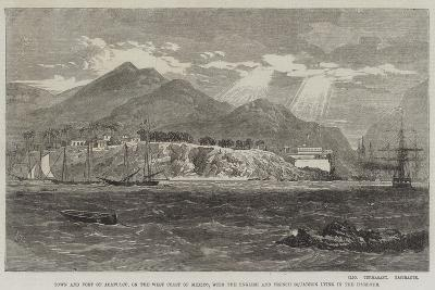 Town and Fort of Acapulco-Richard Principal Leitch-Giclee Print