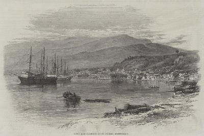 Town and Harbour of St Pierre, Martinique--Giclee Print