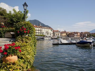 Town and Lakeside, Menaggio, Lake Como, Lombardy, Italian Lakes, Italy, Europe-Frank Fell-Photographic Print